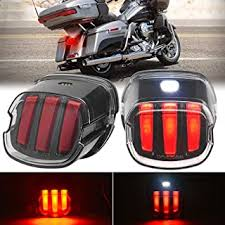 BUNKER INDUST <b>Motorcycle LED Tail Lights</b> Smoked <b>Rear</b> Stop ...