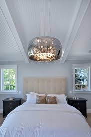 #Transitional #bedroom with pendant