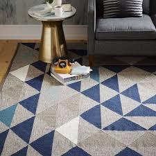 shining west elm kilim rug framed triangles wool