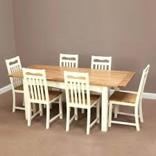 chunky solid oak dining table and 6 chairs round oak table and chairs solid oak table