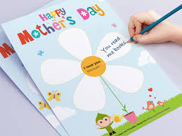 Print A Mother S Day Card Online Mothers Day Free Printable Childrens Craft Downloadable Online