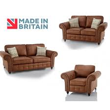 oakridge large tan leather 3 piece sofa