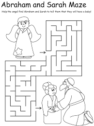 Abraham And Sarah Coloring Pages And Lot Free Bible Bible Coloring