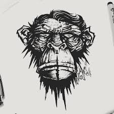 тату эскиз обезьяна тату эскиз обезьян эскиз нарисов Flickr
