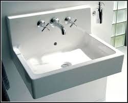 Interesting Wall Mounted Sinks Bathroom Mount Home A Intended For How To Install Wall Mount Sink R29