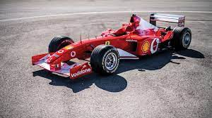 The ferrari f2001 that schumacher piloted to nine victories in 2001, including his last at monaco, sold for $7,504,000 in front of a packed house at sotheby's contemporary art evening auction on november 16 in new york. Ex Schumacher Ferrari F1 Race Car Sells For Millions In Abu Dhabi
