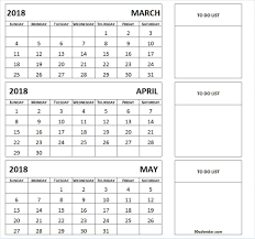 month template 2018 march april may 2018 calendar printable 3 month template