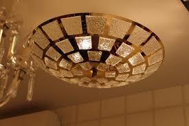 gold plated murano glass pendant lamp