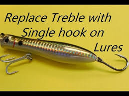 Treble To Single Hook Conversion Chart How To Replace Treble With Single Hook On Lures