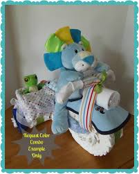 diaper motorcycle with side car baby shower gift baby shower centerpiece boy via