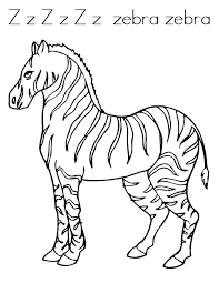 Small Picture Free Printable Zebra Coloring Pages For Kids