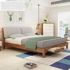 solid wood beds. Simple Wood Home Bed Bedroom Furniture Nordic Simple Modern Solid Wood  Bed 15m18 Inside Solid Wood Beds O