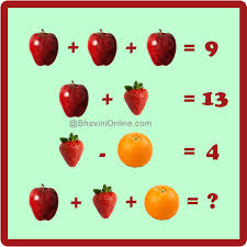 find missing number riddle apple strawberry orange bhavini com
