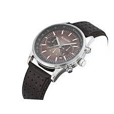 accurist men s quartz watch brown dial chronograph display and br accurist men s quartz watch brown dial chronograph display and brown leather strap ms893br