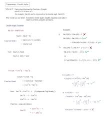 trig double angle identities and examples