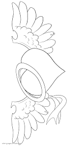 Heart With Wings And Ring Coloring Page Favorite Coloring Pages