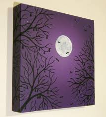 moonlit bats painting by konyskiw on