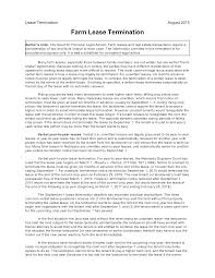 Lease Termination Letters Free Farm Lease Termination Letter Templates At