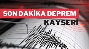 Kayseri'de 4,6 Büyüklüğünde Deprem Oldu! Büyük Panik Yaşandı!