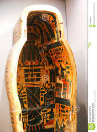 Egyptian Coffin Designs Ancient Queen Coffin In Museum Of Embalming At Luxor Egypt