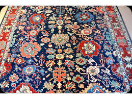 royal blue background persian rug 7 x 10 handmade carpet