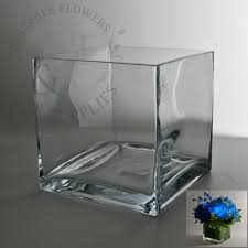 Modern Glass Vases Square Glass Cube Vase 6x6 Wholesale Flowers And Supplies