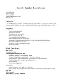 Executive Administrative Assistant Resume Example Samples New Skills ...