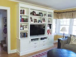 ... Cool Inbuilt Wall Shelves Built In Shelves Ikea White Bookshelves With  Wall Tv ...