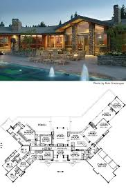 Cliff May inspired ranch house plans from Houseplans com   Retro       mf   floor plan detailCREDIT