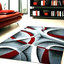 red black gray area rug white and rugs incredible
