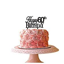 Happy 60th Birthday Cake Topper For 60th Birthday Party Décor