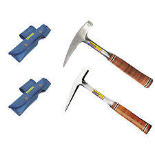 estwing rock hammer. estwing e13p solid steel rock pick, e30 pick with leather grip hammer