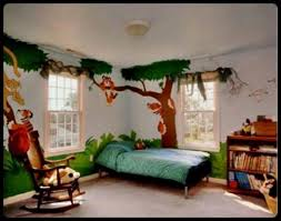 ... Charming Painting Ideas For Boy Bedroom Decoration : Lovely Boy Bedroom  Design Ideas With Jungle Bedroom ...