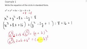 converting a circle from general form to standard form