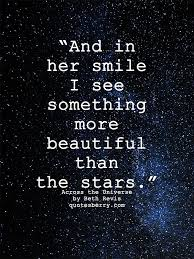 And in her smile I see something more beautiful QuotesBerry New Smile Quotes For Her