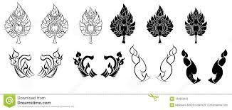 линия тайский дизайн огня для татуировки огонь японца для