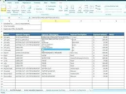 How To Make A Budget Spreadsheet In Excel Make A Personal Budget On