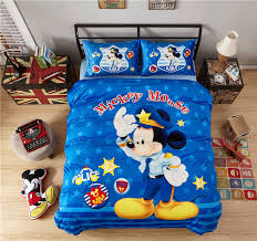 <b>Flannel Mickey mouse</b> comforter bedding set twin full queen 4/5pcs ...