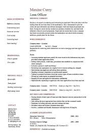 Commercial Loan Officer Sample Resume Commercial Loan
