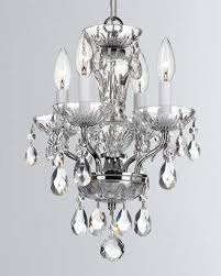at neiman marcus traditional crystal 4 light chrome mini chandelier