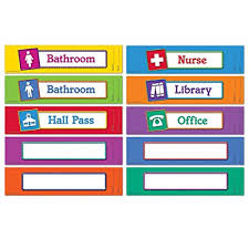 Amazon Com Learning Resources Magnetic Hall Passes Set Of 10