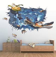 3d sea turtle wall stickers wall