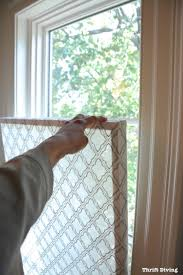 how to make a pretty diy privacy window screen thrift diving blog