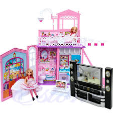 barbie dollhouse furniture cheap. New Dollhouse Furniture Girls Living Room Accessories TV Theater Set Combo For Barbie Toy STA Cheap