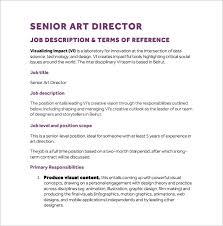 senior art director job description pdf free template copywriter job description
