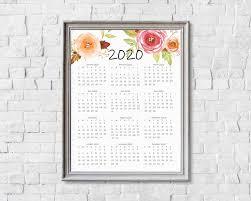 At A Glance Yearly Calendars 2020 Year At A Glance Calendar