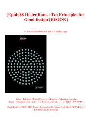 Dieter Rams Ten Principles For Good Design Book Pdf Epub Dieter Rams Ten Principles For Good Design Ebook