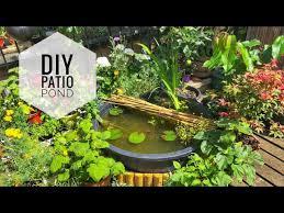 diy city patio pond you