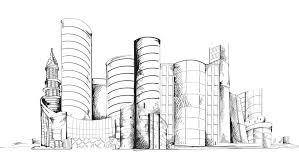 modern architecture skyscrapers sketches. Modren Modern Modern Urban Sketch City Center Stock Footage Video 100 Royaltyfree  8491495  Shutterstock To Architecture Skyscrapers Sketches K