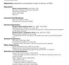 Nursing Resumes Samples Fine Decoration Nurse Resume Nurse Resume